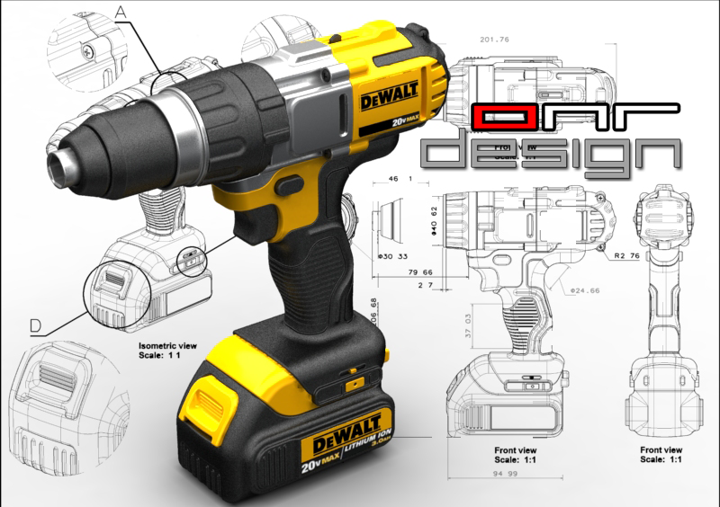 Solidworks Dewalt Drill Drawings And Cad Models