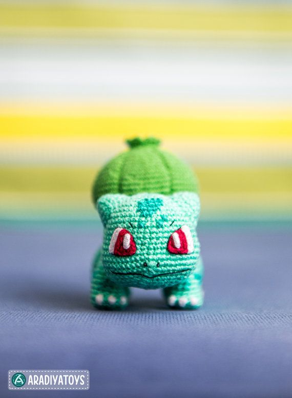Crochet Pattern of Bulbasaur from \