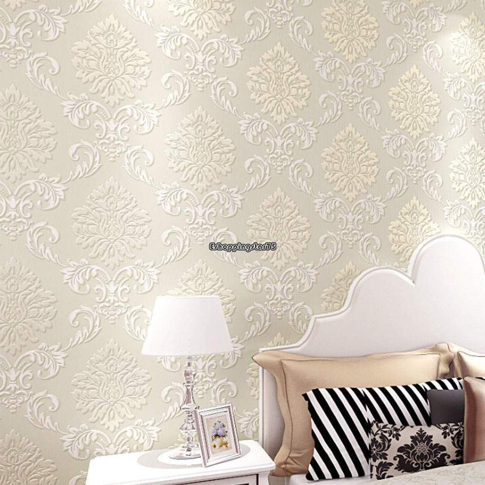 10m Wall Paper 3d Wallpaper Roll Damask Non Woven Embo