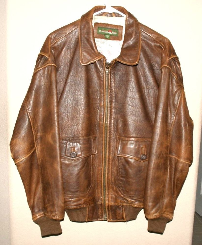90e18a923ac Outback Red-Australian Bomber Pilot Leather Flight Jacket