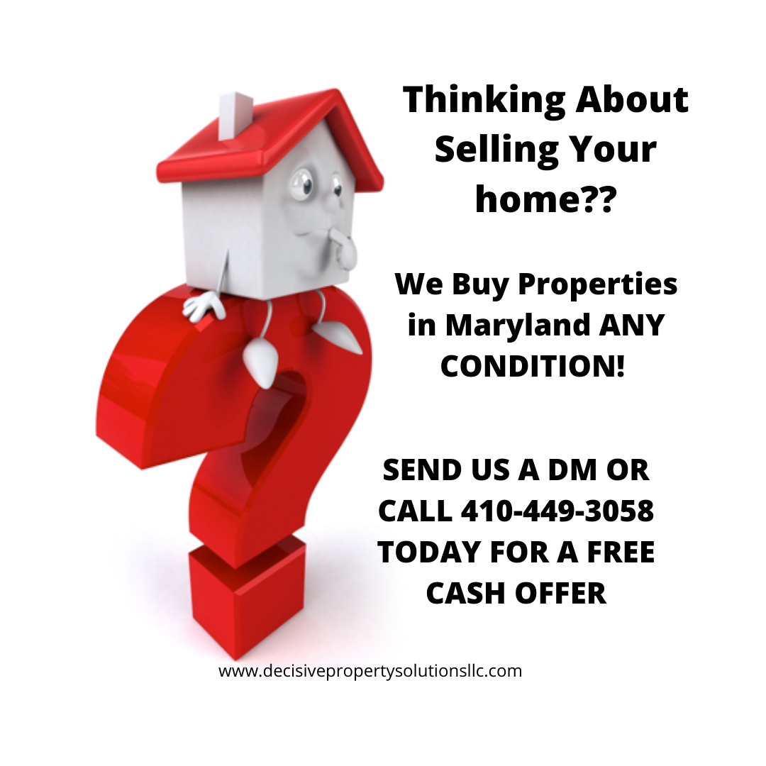 We Buy Houses Any Condition And We Can Close In As Little As 7 Days Call Us For A Free Cash Offer 410 449 3058 We Buy Houses Home Buying Buying Property