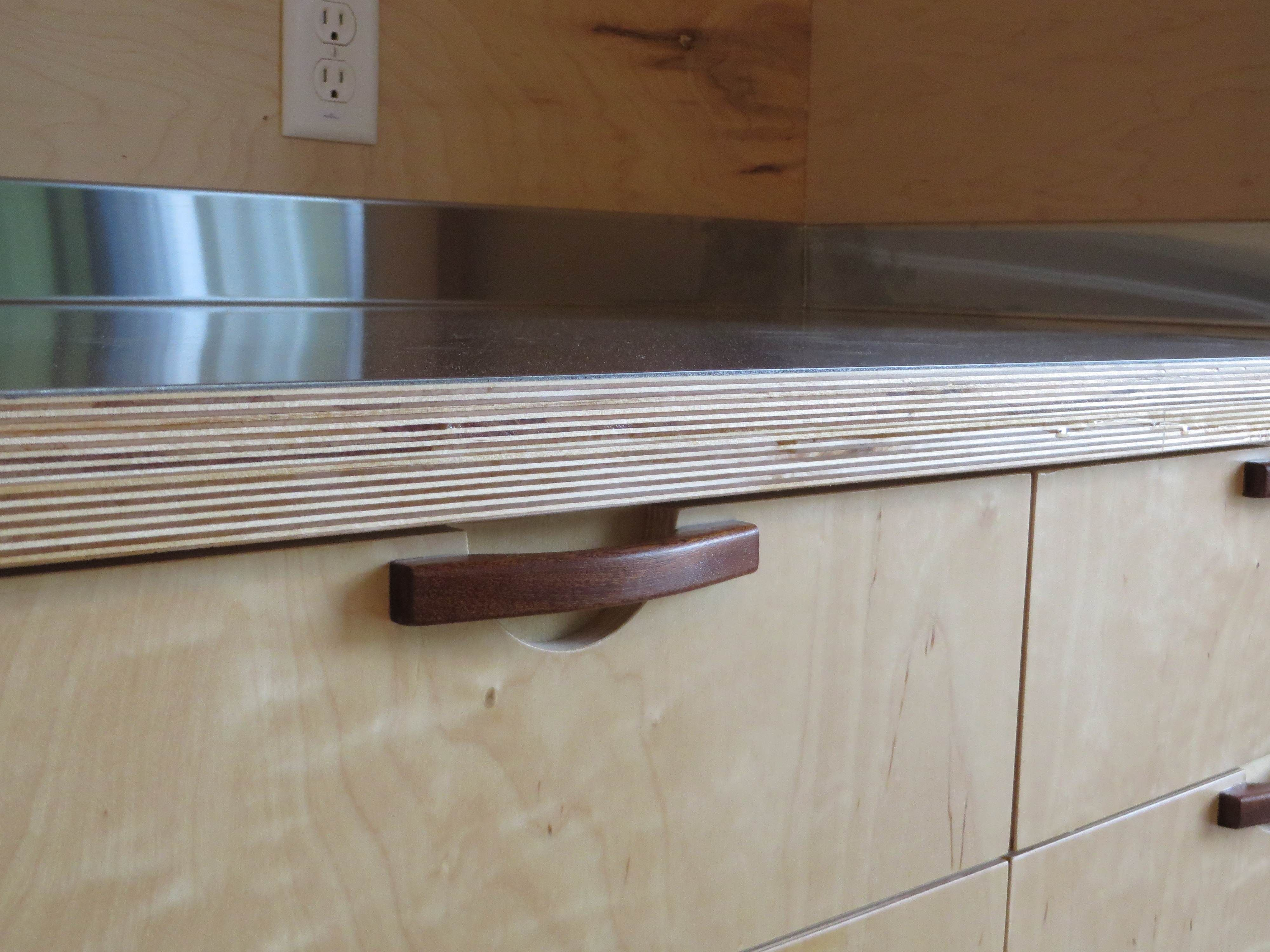 Solid plywood kitchen cabinets - Stainless Steel Laminated To Baltic Birch Woodweb S Laminating And Solid Surfacing Forum