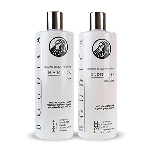Boudica Shine, Keratin Color Care Imported Sulfate Free Shampoo - 500ml & Boudica Nourishing Keratin Color Care Imported Sulfate Free Conditioner - 500ml BOUDICA shine for shiny hair is a salon quality shampoo and perfect for all hair types. Gentle enough to be used daily, and with added  Read more http://cosmeticcastle.net/hair-care/boudica-shine-keratin-color-care-imported-sulfate-free-shampoo-500ml-boudica-nourishing-keratin-color-care-imported-sulfate-free-conditioner-500