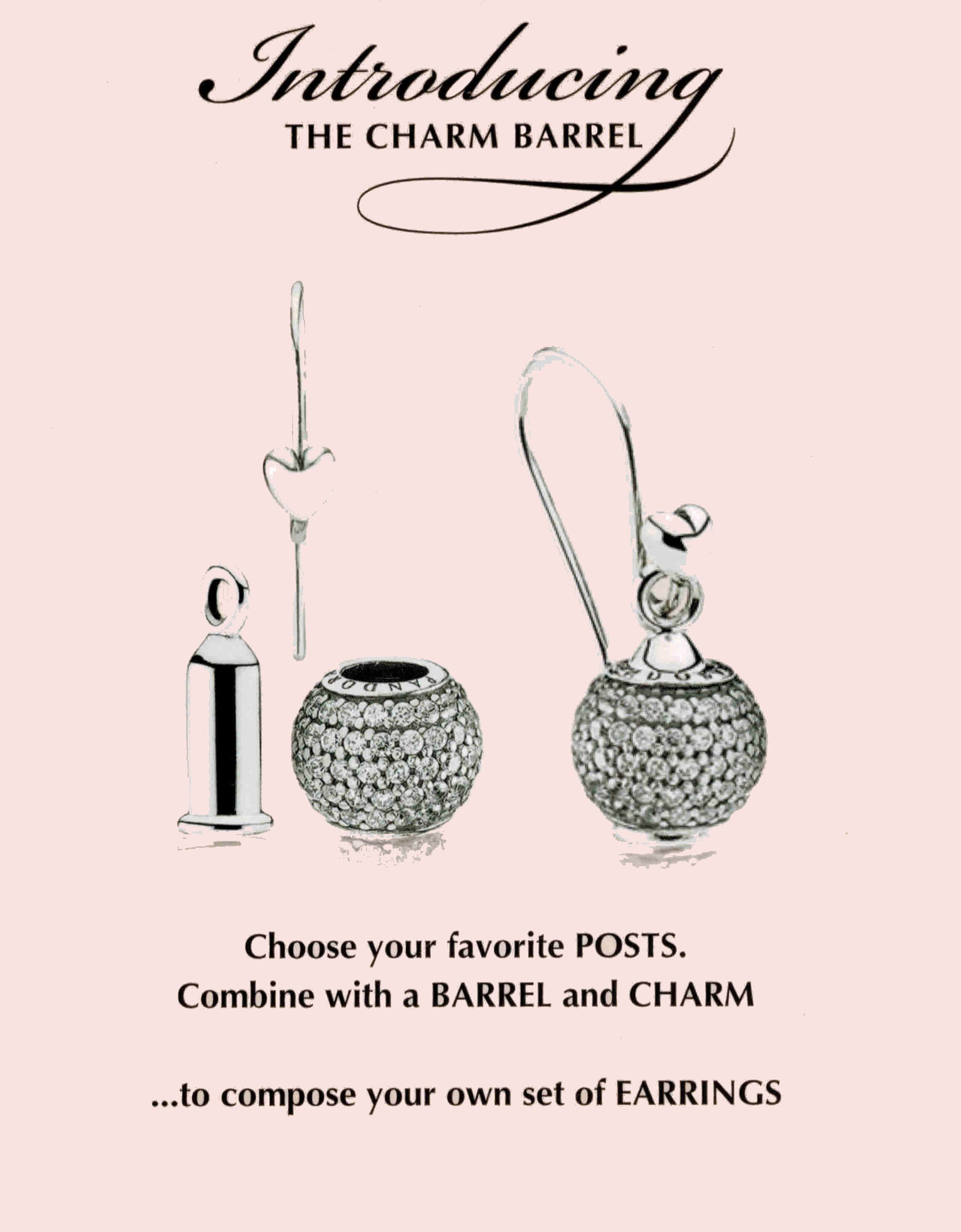 Pandora Charm Barrel Turn Charms Into Earrings