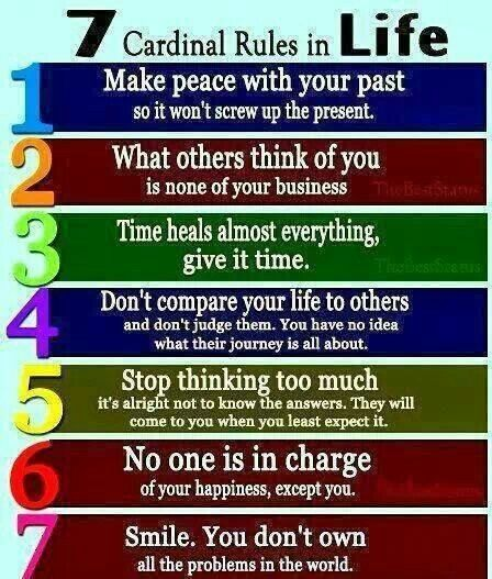 7 Cardinal Rules in Life