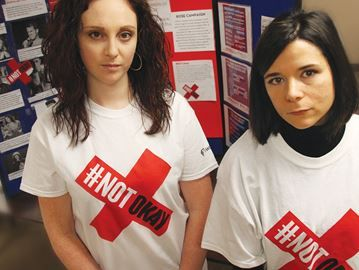 Violence against women is #NOTokay - City hall to be lit with red lights to mark Montreal Massacre – To read 12/4/14 Cambridge Times (Canada) article, click http://www.cambridgetimes.ca/community-story/5180543-violence-against-women-is-notokay/