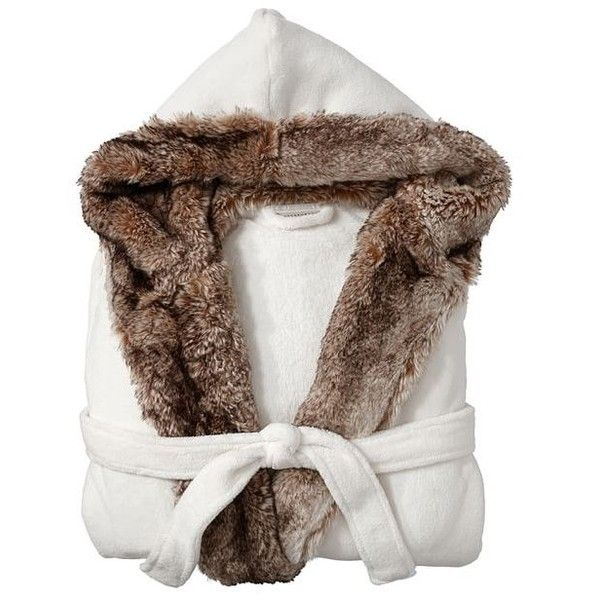 133781bca1 Pottery Barn Cozy Faux Fur Robe ( 103) ❤ liked on Polyvore featuring  intimates