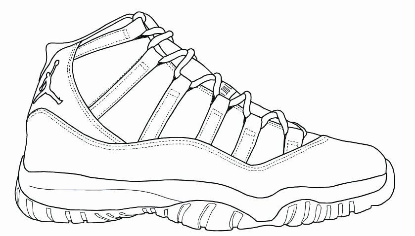 Basketball Shoes Coloring Pages Pics