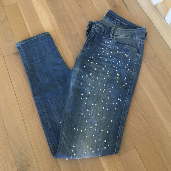 Guess Marciano embellished jeans Guess Marciano rhinestone and pearl jeans  Marciano Jeans Skinny