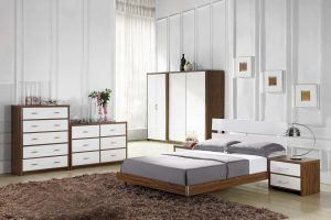 Walnut And White Bedroom Furniture
