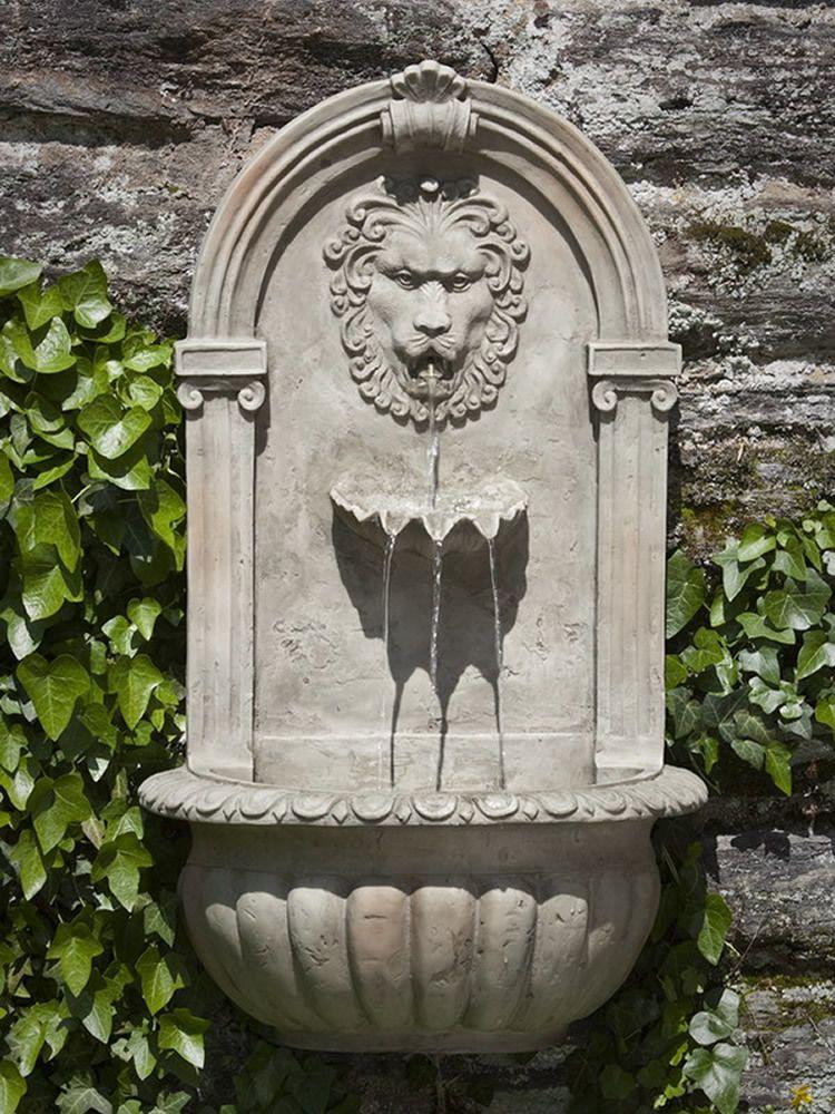 Outdoor European Inspired Hanging Wall Fountain: Tivoli USA: El Leon