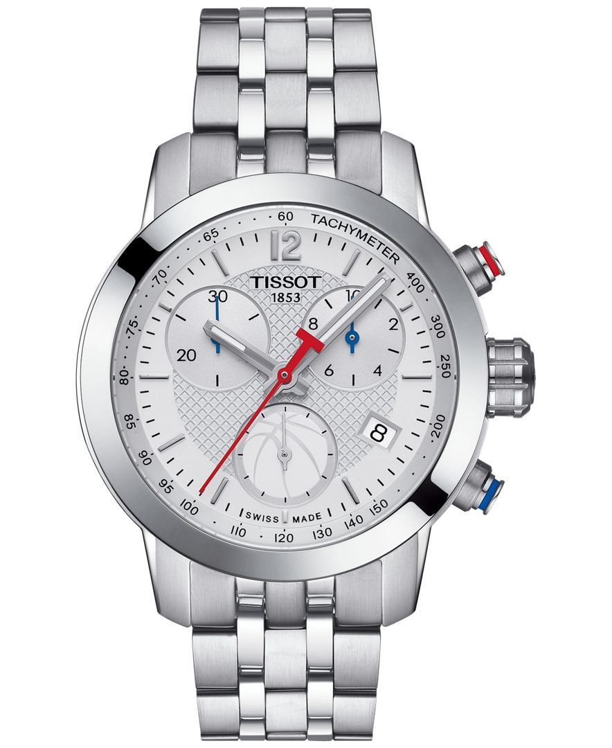 Tissot Women s Swiss Chronograph Nba Prc 200 Stainless Steel Bracelet Watch  35mm T0552171101700 bc8f461d1b9