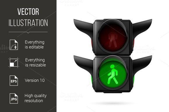 Pedestrian Traffic Light Traffic Light Human Icon Lights