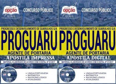 Apostila Agente De Portaria Proguaru Sp 2017 Apostilas Para