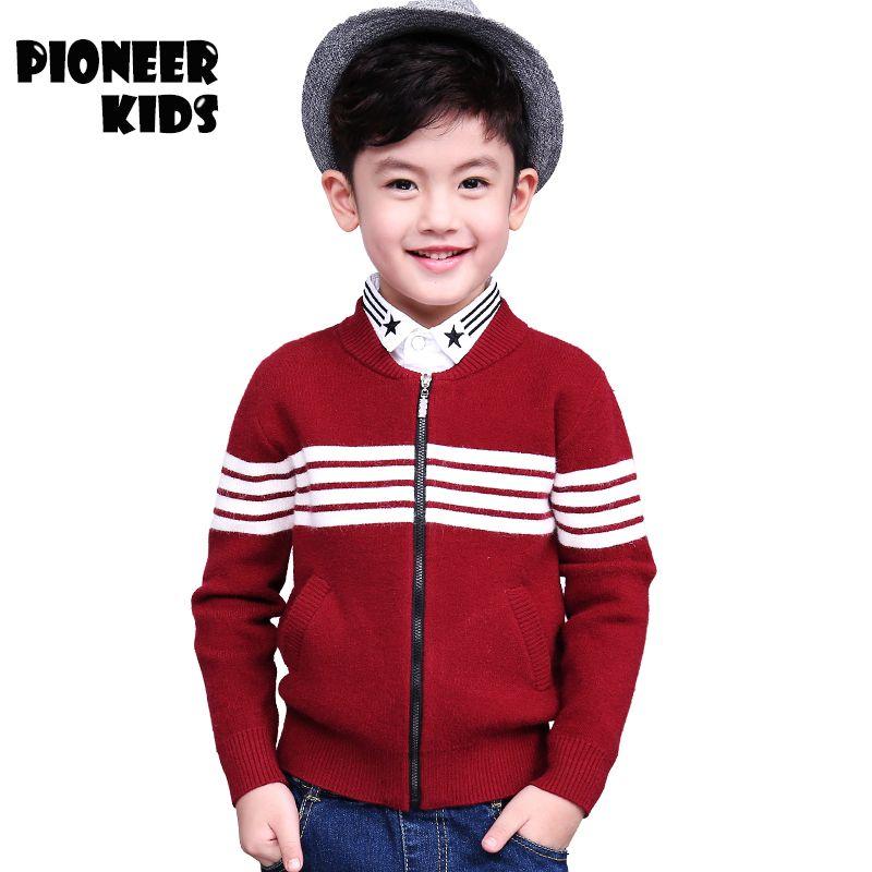 b69daefbc Pioneer Kids Autumn\Winter boys outerwear Casual Knit Zipper Sweatercoat Boy  Turtleneck Sweaters knitting pattern baby cardigan