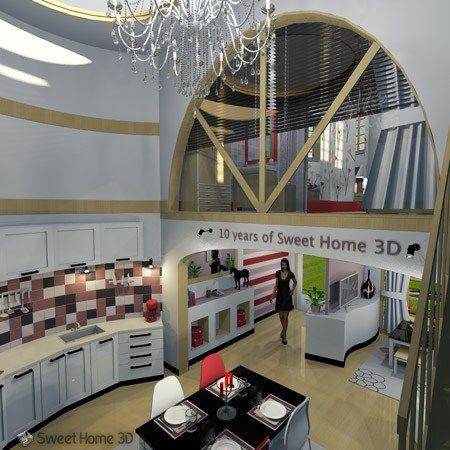 Sweet Home 3D gratis online o instalada. Software de
