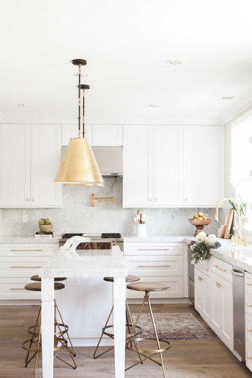 Cooking In Style: Chic White Kitchen | Küche und esszimmer ...