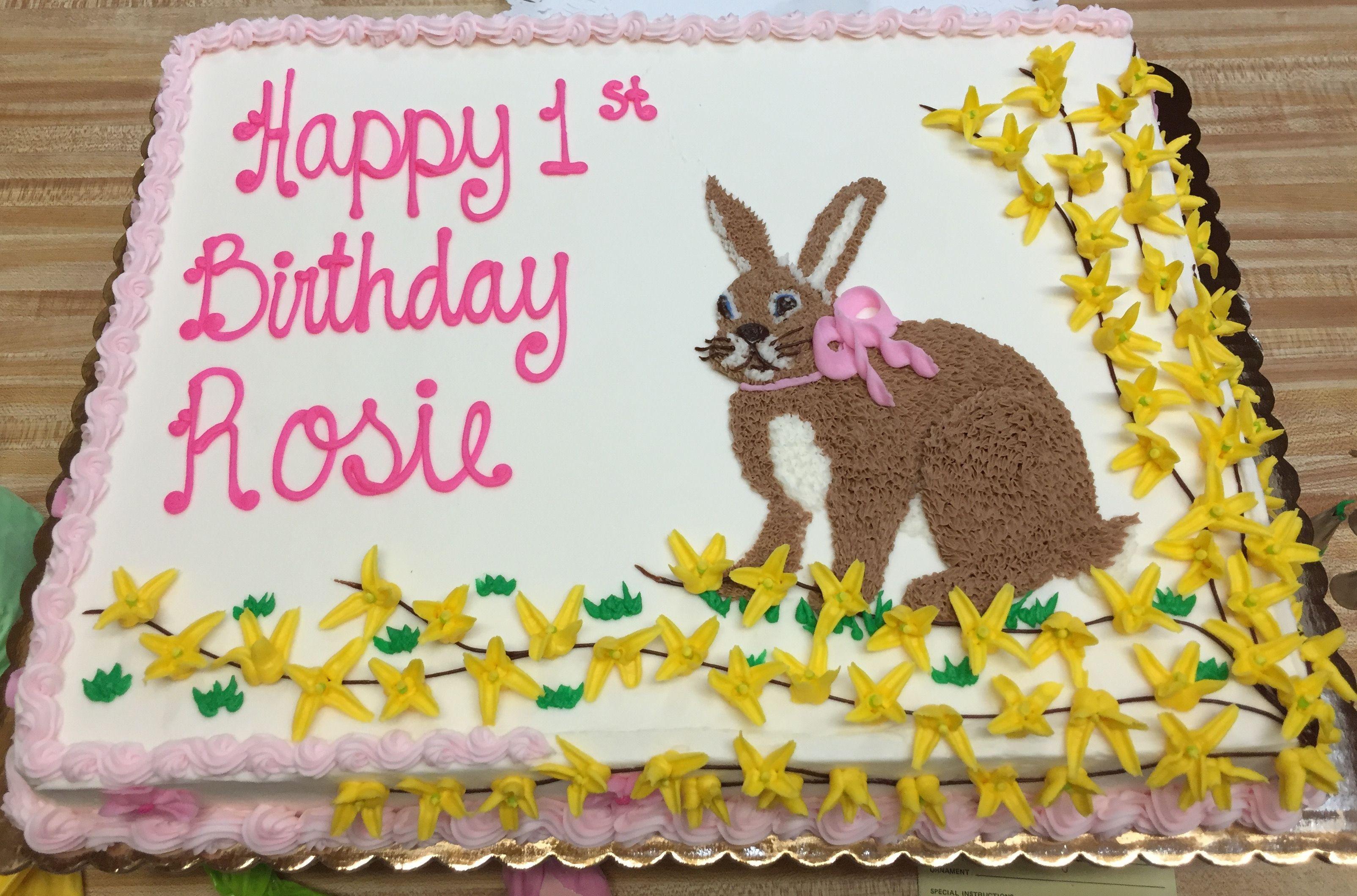 Birthday Cake With Rabbit Spring Theme Westhampton Pastry Shop Richmond VA