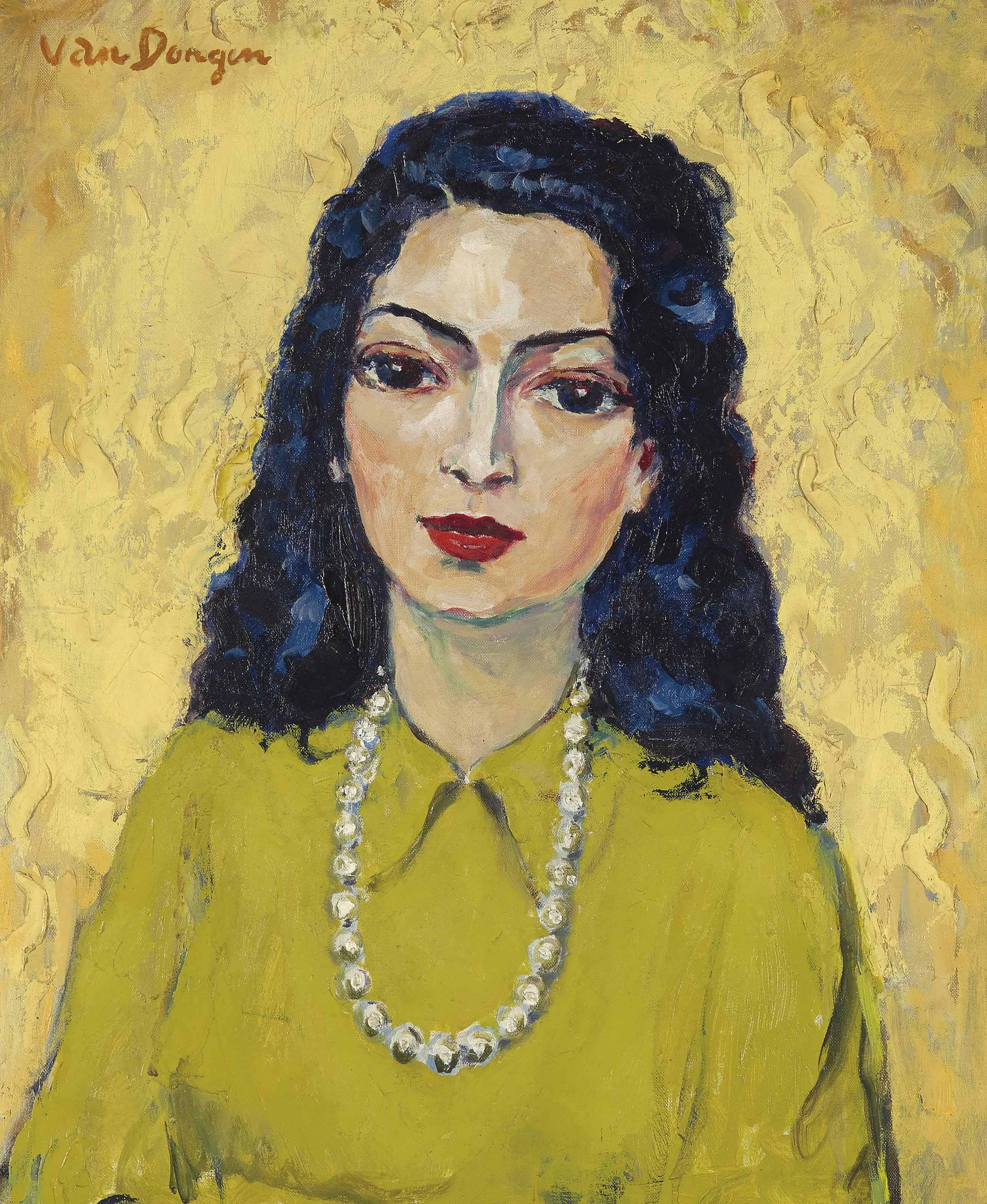 Kees Van Dongen Woman With A Necklace Gandalfs Gallery