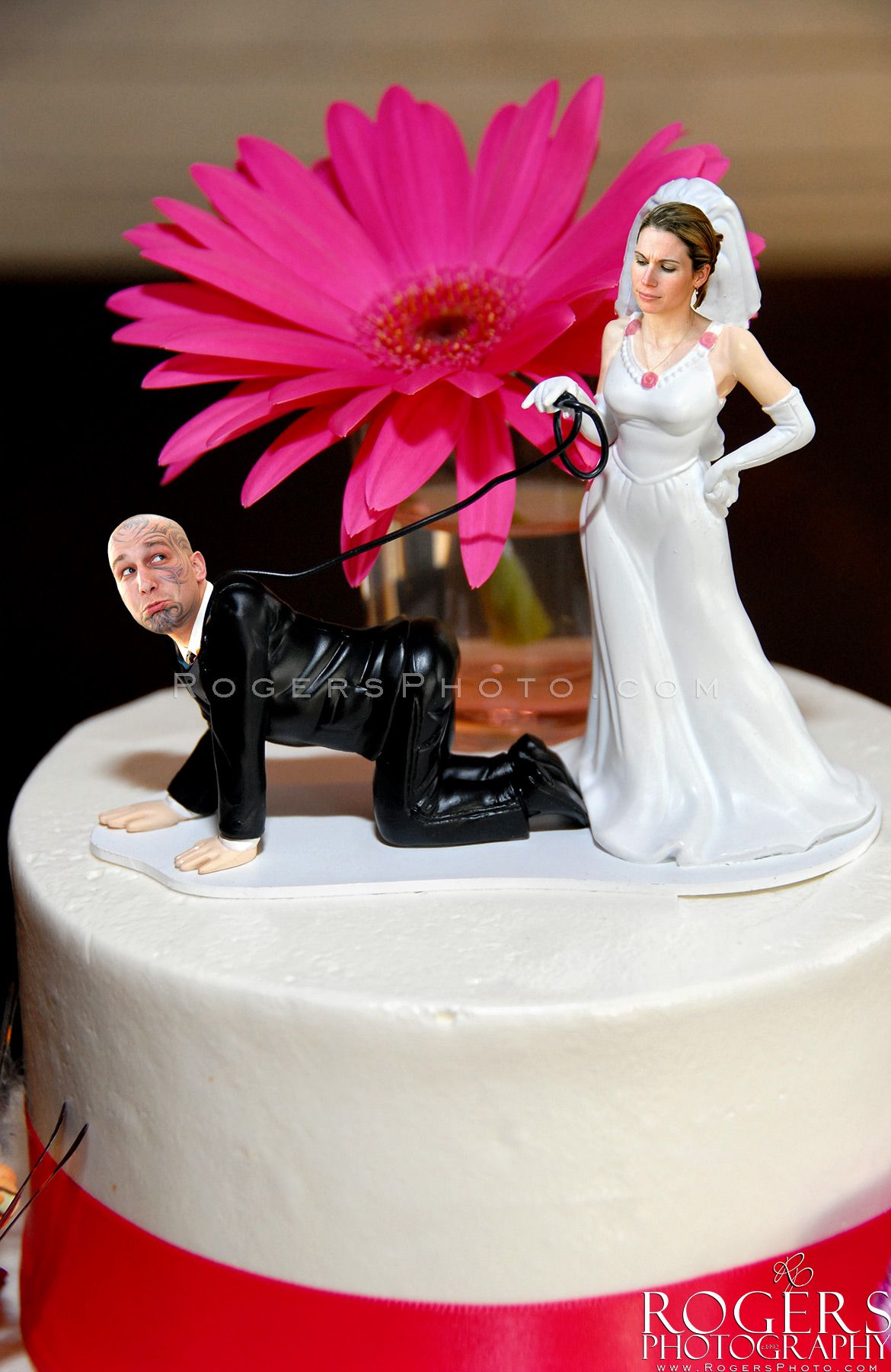 """One of my favorite cake toppers (with a little """"magic"""" on our end)! Rogers Photography"""