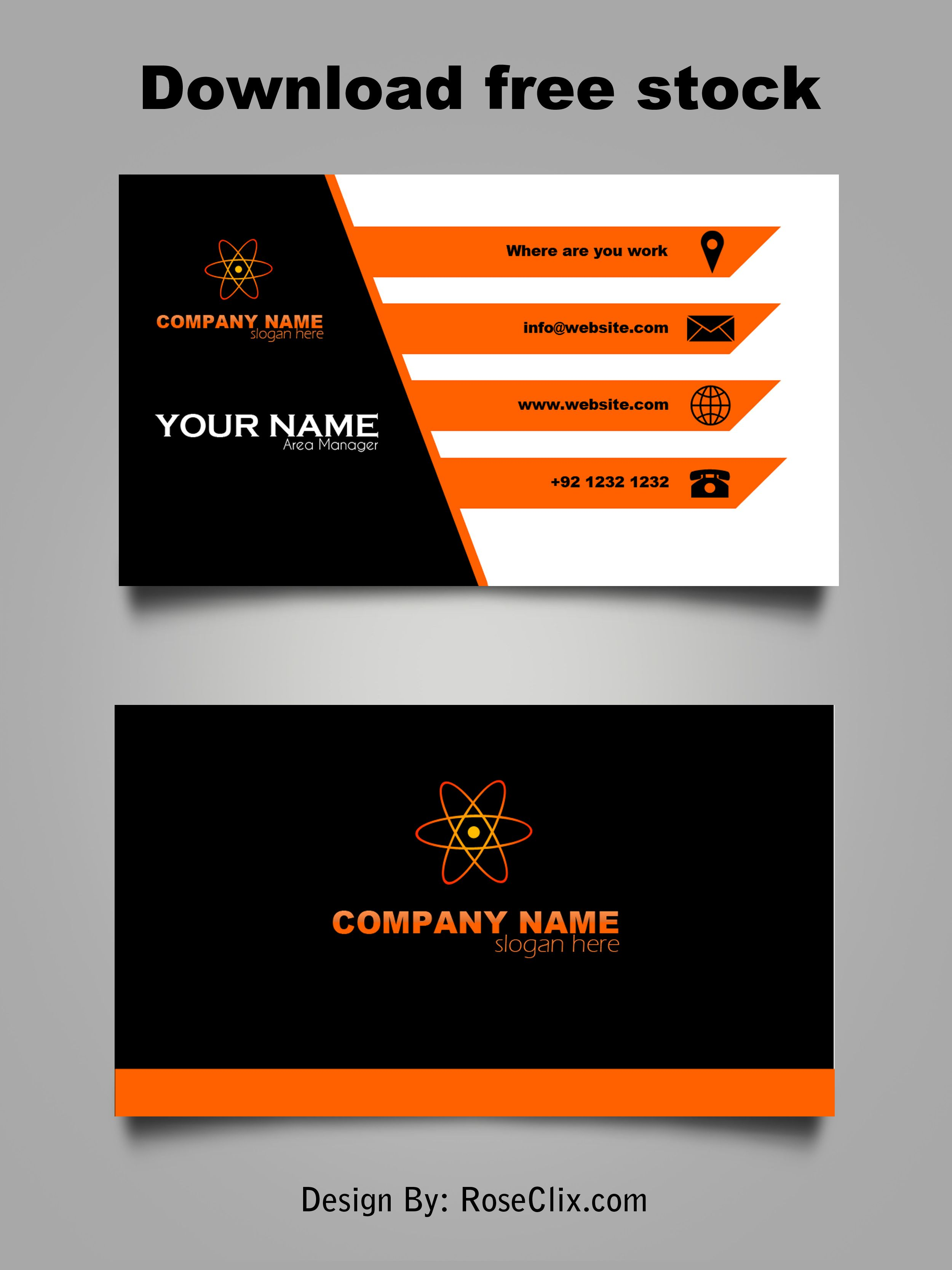 Business Card Template Free Downloads Psd Fils Free Business