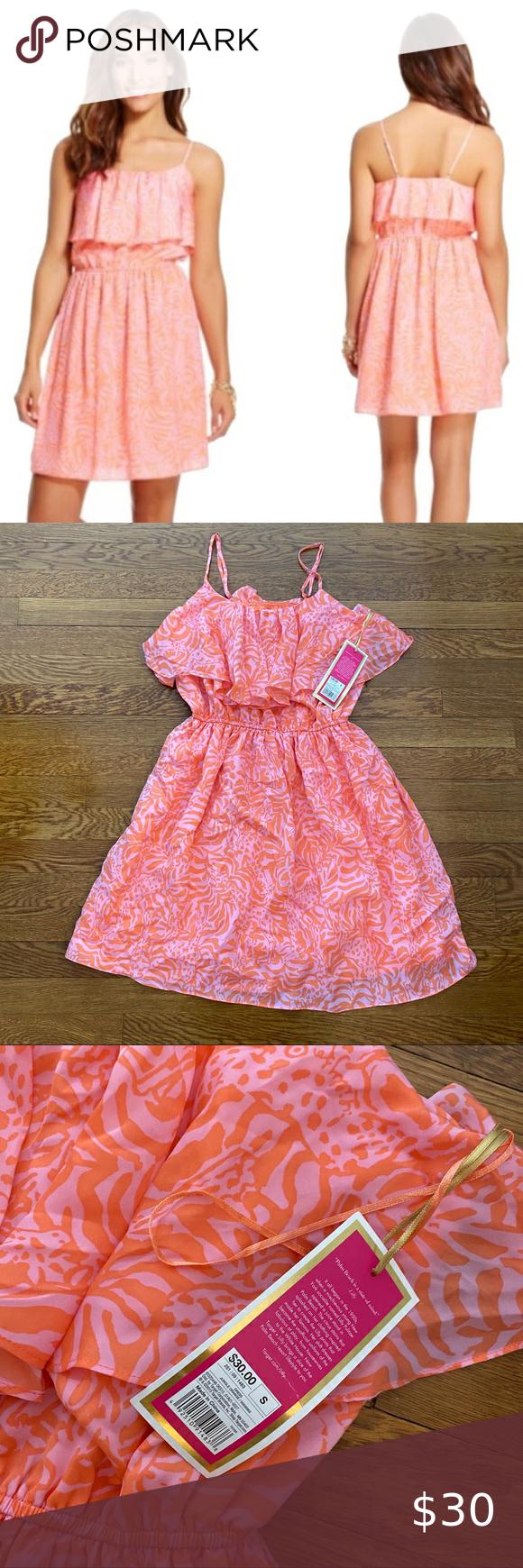 Lilly Pulitzer For Target Pink And Orange Dress Orange Dress Clothes Design Dresses [ 1740 x 580 Pixel ]