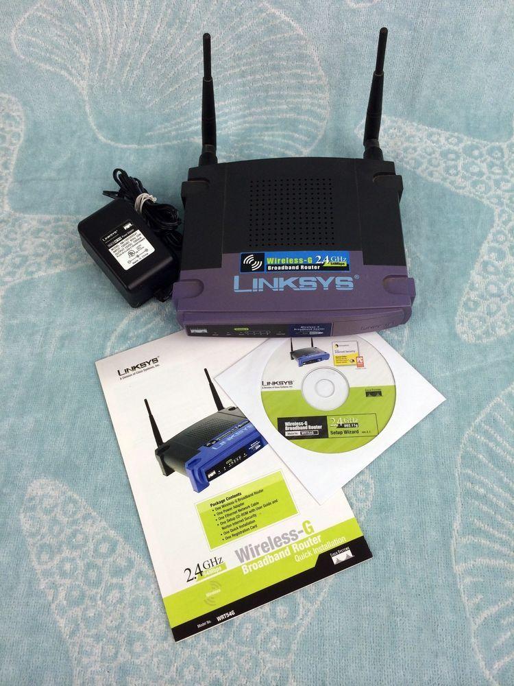 Linksys WRT54G 54 Mbps 4-Port 10/100 Wireless G Router (WRT54G v2 ...