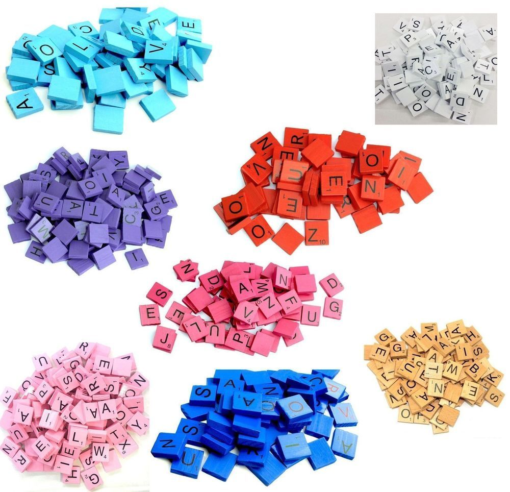 12000 PLASTIC SCRABBLE TILES BLACK LETTERS NUMBERS FOR