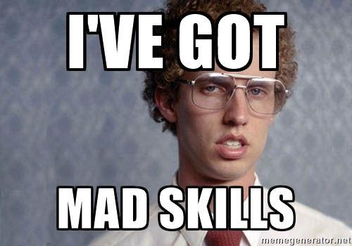 Image result for skills meme