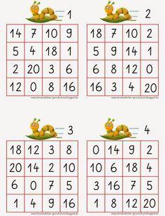 verdoppeln und halbieren ein bingofeld schule mathe mathematik lernen und mathespiele. Black Bedroom Furniture Sets. Home Design Ideas