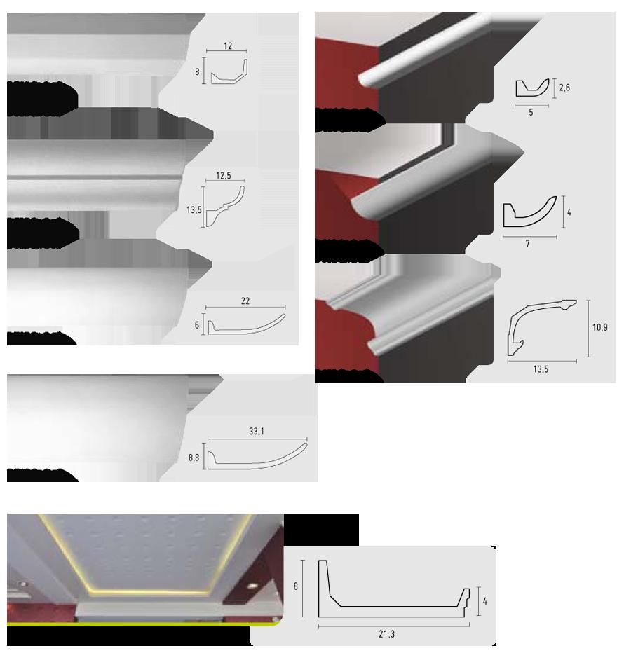 Indirekte Beleuchtung Gipskarton Elegant Abgehangte Decken: Lichtvouten Gesimse Aus Feinem Gips