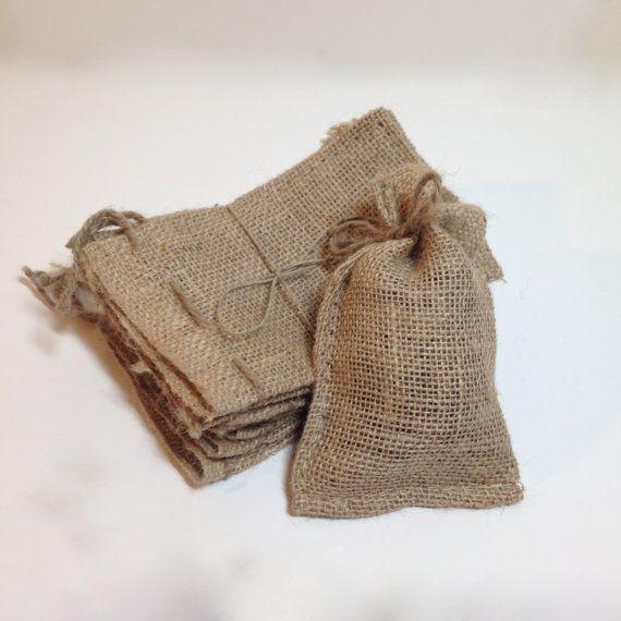 Burlap Bags 4x6 Drawstring Favor Bags Natural by nikkiPOParts