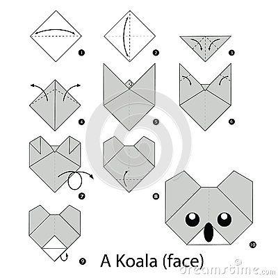 Photo of Instrucciones Paso A Paso Cómo Hacer La Koala De La Papiroflexia Ilustración del Vector – Ilustración de elemento, imaginación: 67138885