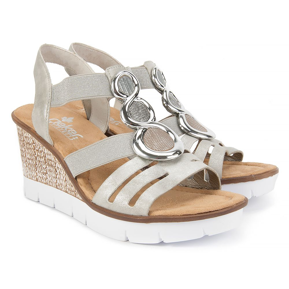 Sandaly Rieker 65540 40 Grey Sandaly Na Koturnie Sandaly Buty Damskie Filippo Pl Shoes Sandals Rieker