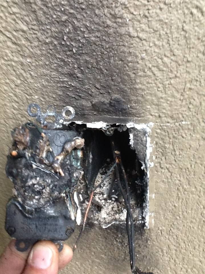 Outlet That Caught On Fire Due To Faulty Installation Te Certified