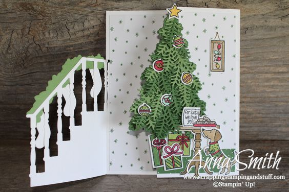 7 days of stampin up holiday catalog sneak peeks trifold christmas card idea - Tri Fold Christmas Cards
