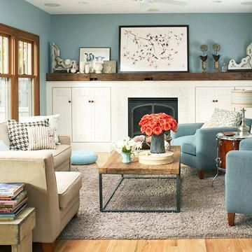 15 Comfortable Family Rooms | Casual family rooms, Decorating and ...