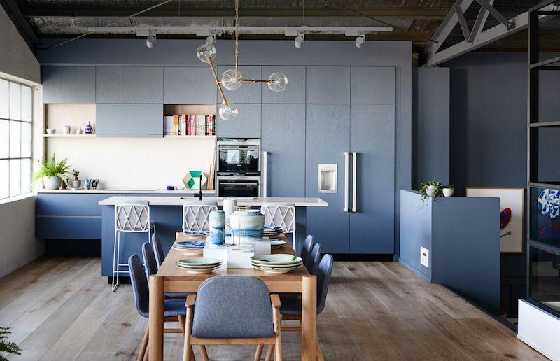 Cuisine bleu gris, canard ou bleu marine ? Code couleur et idées de