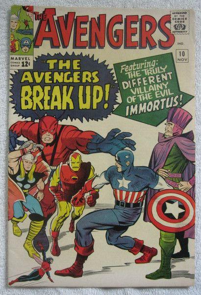 The Avengers 10 (Nov 1964, Marvel) 1st app. Immortus Fine
