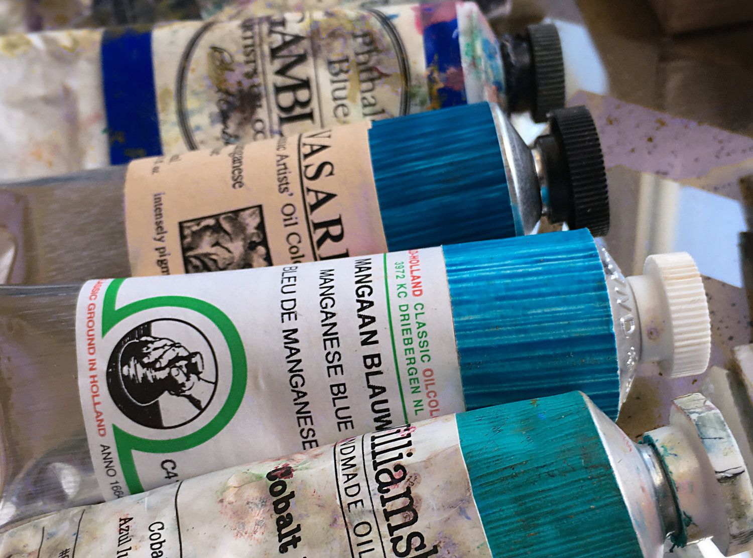 Here S A Shot Of The Old Tube Of Genuine Manganese Blue Paint Pb 33 That I Found At A Local Art Supply Store Art Supply Stores Mission Accomplished Manganese