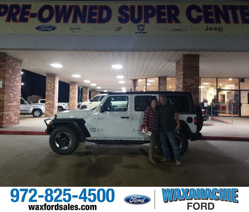 Congratulations Jose On Your Jeep Wrangler Unlimited From Darek Sanchez At Waxahachie Ford Newcar In 2020 Waxahachie New Cars Ford
