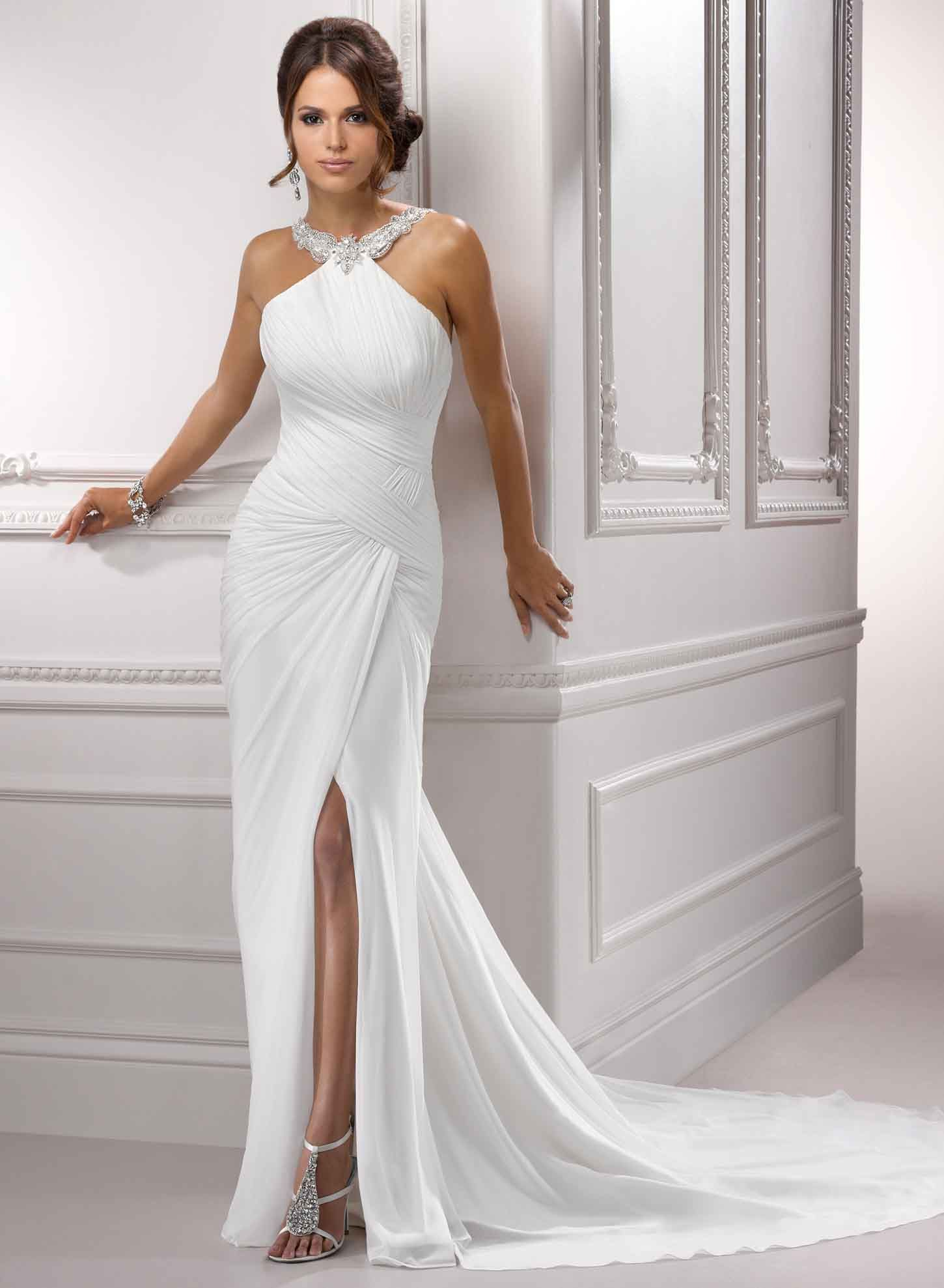 Simple Elegant Wedding Dresses With Strap kinda the look I would go ...