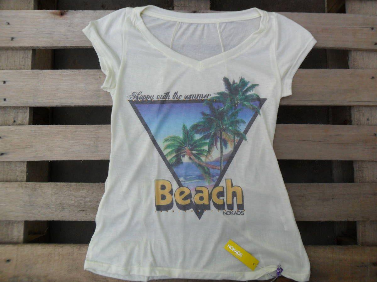 t-shirt basiquinha da praia - blusas nokaos