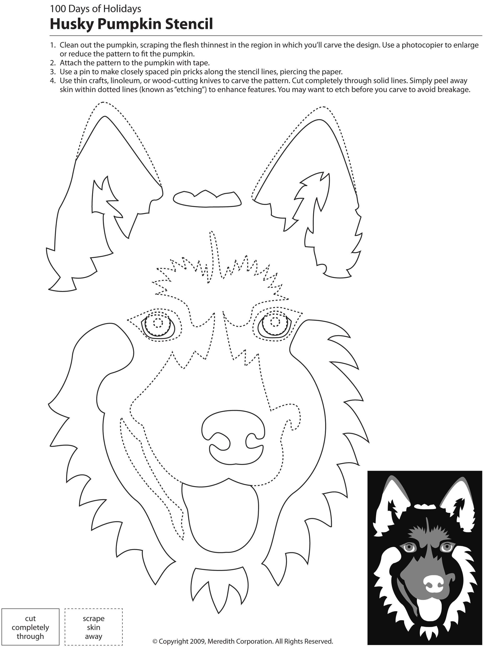 22 Free Pumpkin Carving Dog Stencils Breed Specific