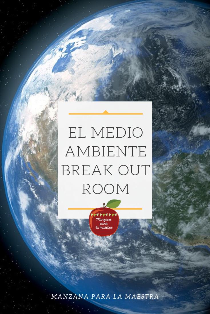 El medio ambiente Spanish break out room escape activity ...