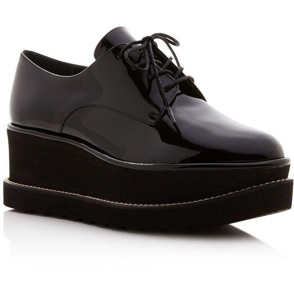 Platform loafers, Black lace