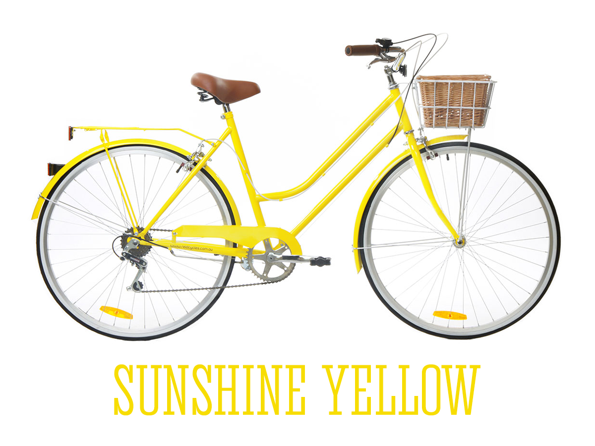 Sunshine Yellow Reid Cycles Melbourne Vintage Ladies Bike