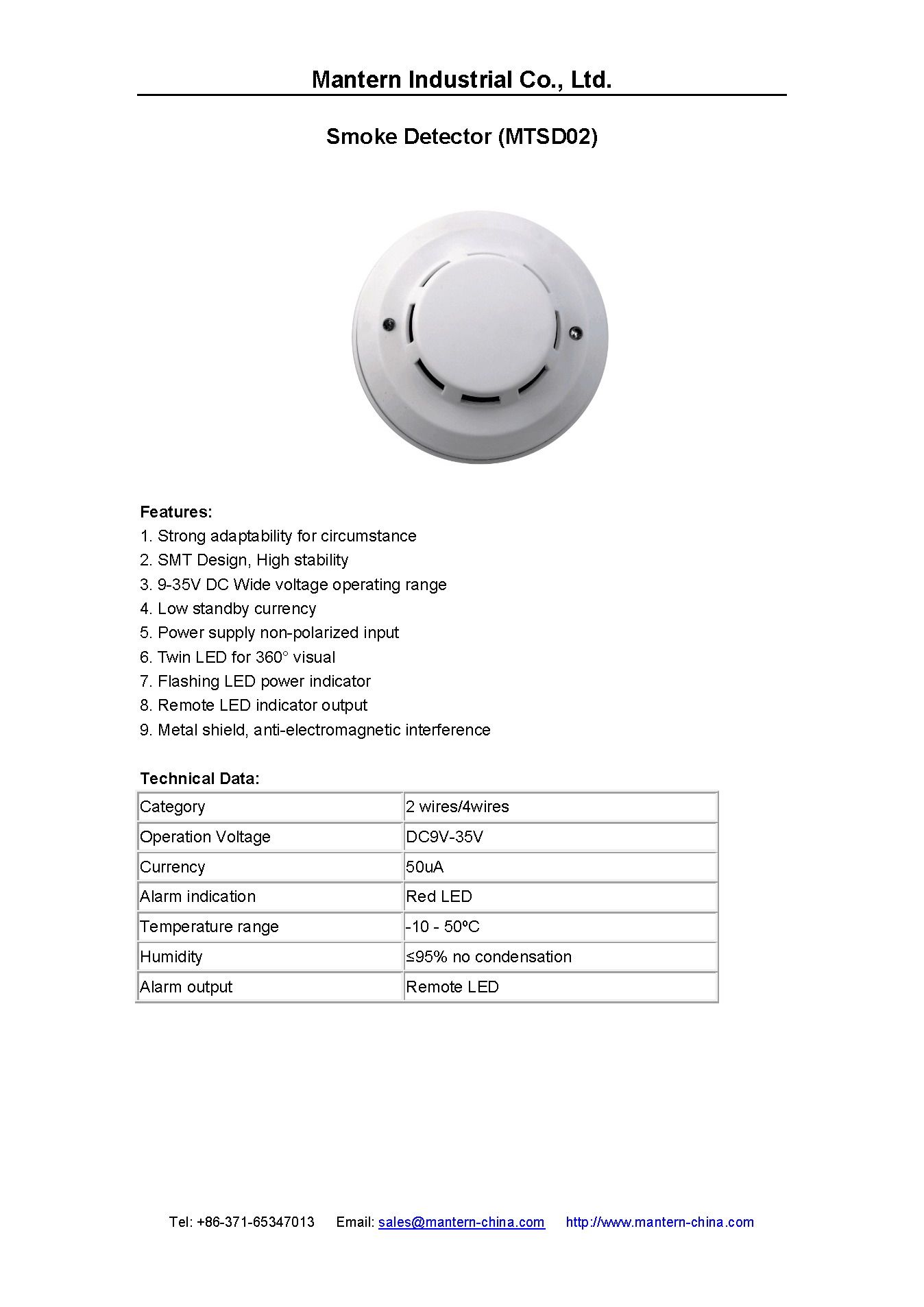 2  4 wired smoke detector