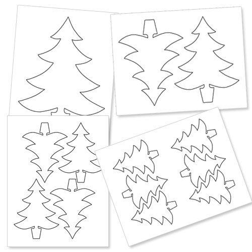 Printable Christmas Tree Outline from PrintableTreats.com ...