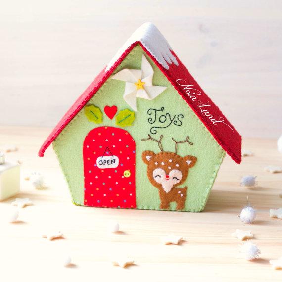PDF Pattern. Toy Shop. Christmas house   Natale 3 /Christmas /Noel ...